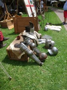 Sparrenburgfest: Auch Ritter müssen mal Pause machen.
